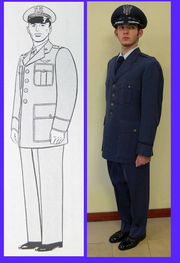 4fb607ce343 Blue shade 84 gabardine coat with blue shade 84 gabardine trousers and blue  shade 120 or 126 poplin or oxford cloth shirt. Officers may use blue shade  84 ...